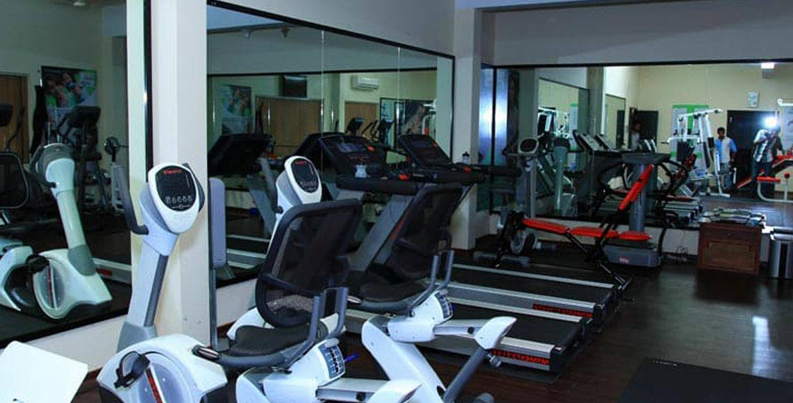 Fitness center at Green Gates Hotel